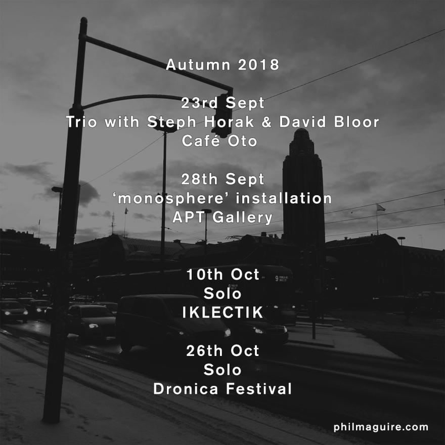 autumn 2018 gigs